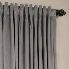 signature silver grey extra wide velvet blackout curtain