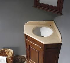 corner bathroom sink ideas floating wooden vanity with curved cabinet door bathroom simple