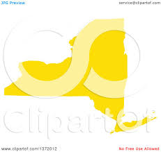 Map Of The State Of New York by Clipart Of A Yellow Silhouetted Map Shape Of The State Of New York