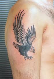 american eagle tattoo on biceps for men in 2017 real photo