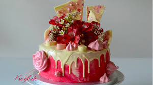 pink drip cake for mother u0027s day or valentine u0027s day