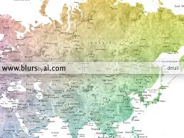 Us Map States Labeled by Printable Watercolor World Map With Cities In Colorful Gradient