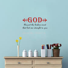 christian quotes god blessed the broken road wall sticker difference between carving wall stickers and printing wall stickers