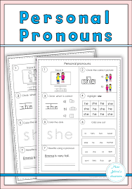Personal And Possessive Pronouns Worksheet Personal Pronouns Set Worksheets Sentences And Activities