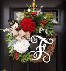 Door Monogram Decoration 38 Best Christmas Wreaths And More Images On Pinterest Front