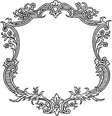 free vintage floral scroll border frame graphics u0026 printables