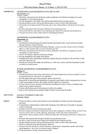 sales representative resume advertising sales representative resume sles velvet