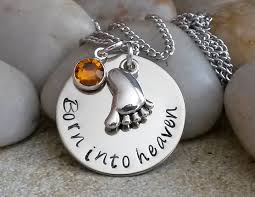 baby remembrance jewelry baby remembrance necklace born into heaven loss of
