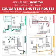 Route Maps by Cougar Line Shuttles University Of Houston