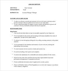 Territory Manager Job Description Resume by Sales Assistant Job Description Customer Service Resume Objective
