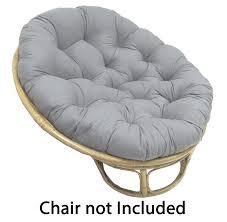amazon com cotton craft papasan charcoal overstuffed chair