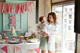 shabby chic first birthday party modern day homemaker