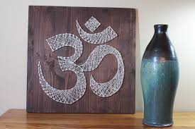 Yoga Home Decor Om Wall Art Meditation Sign String Art Omkara Aumkara Diy
