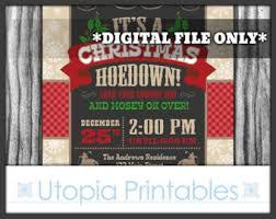 Cowboy Christmas Party Invitations - cowboy christmas invitation country western theme holiday xmas