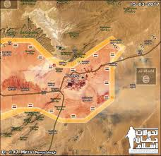 Isis Syria Map by Map Update Isis Mass Collapsing In East Palmyra As Syrian Army