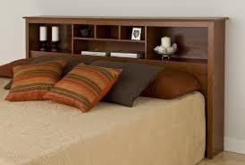 Platform Bed Headboard Interior Fancy Decoration For Girls Bedroom Using White Wooden