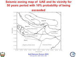 middle east earthquake zone map dynamic response of uae buildings earthquakes ppt