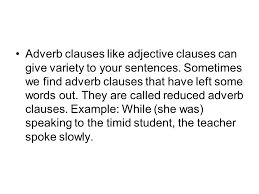 adjective adverb and noun clauses identifying writing
