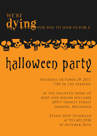 Party Invitation Card Halloween Party Invitation Template Kawaiitheo Com