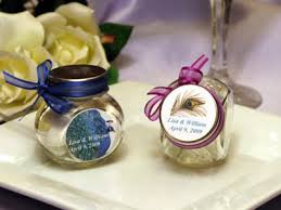 peacock favors peacock feather wedding mini glass candy jar favors pavia party