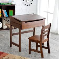 schoolhouse desk and chair set walnut hayneedle
