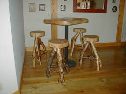 Furniture Wooden And Metal Counter by Furniture Barstoolstable Pine Bar Stools Rustic Log Furniture