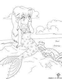 anime mermaid coloring pages mermaid to print 2382 anime mermaid