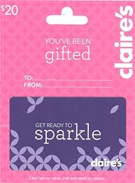 claires gift card s gift card 20 gift cards
