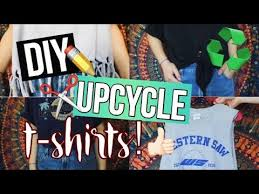Upcycle Old Tshirts - diy ways to upcycle your old t shirts youtube