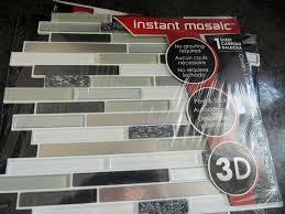 creative art backsplash stick on tiles kitchen peel and stick tile