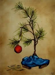 original brown christmas brown christmas tree painting brown style