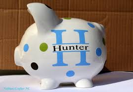 customized piggy bank nubian crafter designs personalized piggy bank