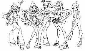 winx club coloring pages print tags winx club colouring