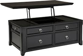 Black Side Table Coffee Table Black Coffee Table With Storage With Regard To Black