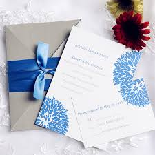 blue wedding invitations inexpensive blue and gray pocket wedding invitations wedding