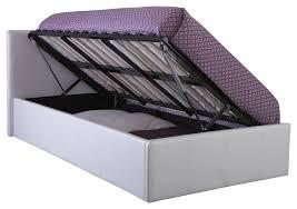 Ottoman Storage Bed Double by Birlea Phoenix 4 U00270 Small Double Ottoman Bed In White Amazon Co Uk