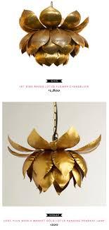 world market pendant light 1st dibs brass lotus flower chandelier 1 800 vs cost plus world