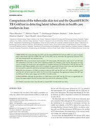 Sho Nr Kur comparison of tuberculin skin and quantiferon tb gold tests in