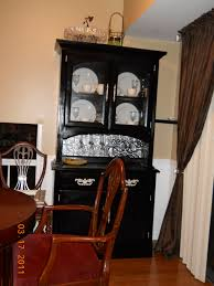 Dining Room Table And China Cabinet My Repurposed China Cabinet Painted It Added The Backsplash