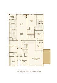 Four Car Garage New Home Plan 204 In Mckinney Tx 75071