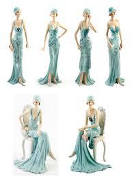 deco broadway belles figurine gift ornament blue vintage