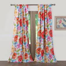 Pink Flower Curtains August Grove Sevan Nature Floral Sheer Rod Pocket Curtain Panel
