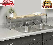 Over The Sink Shelf Kitchen Storage  Organization EBay - Kitchen sink shelves