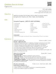 Resume Sample Of Objectives by Resume Tips Digital Arts U0026 Design Graphic Design