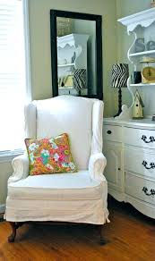 white wing chair slipcover wonderful wing chair recliner slipcover chair slipcover white wing