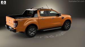 Ford Ranger Truck 2016 - 360 view of ford ranger double cab wildtrak 2016 3d model hum3d