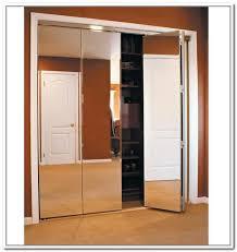 Mirrored Folding Closet Doors Bi Fold Closet Doors This Diy Bifold Closet Door Makeover Looks