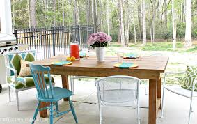 Free Diy Patio Table Plans by Ana White Happier Homemaker Farmhouse Table Diy Projects