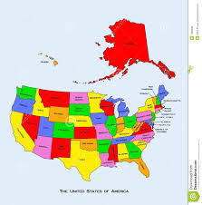 America Map With States by Map Of The United States Of America Royalty Free Stock Images