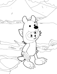 polar bear color page polar bear coloring page handipoints